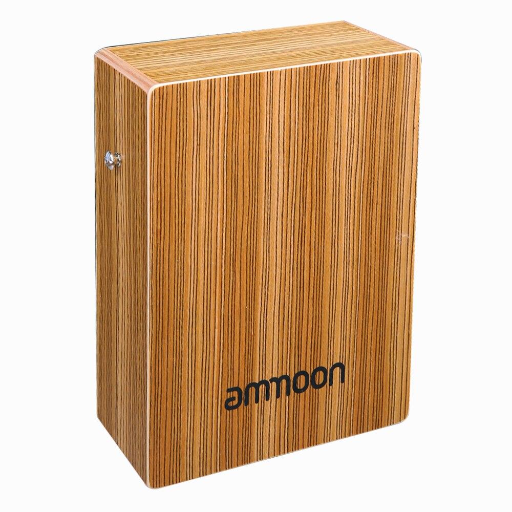 Portátil de viagem cajon caixa tambor mão plana tambor alta qualidade arborizada percussão instrumento com alça carry bag