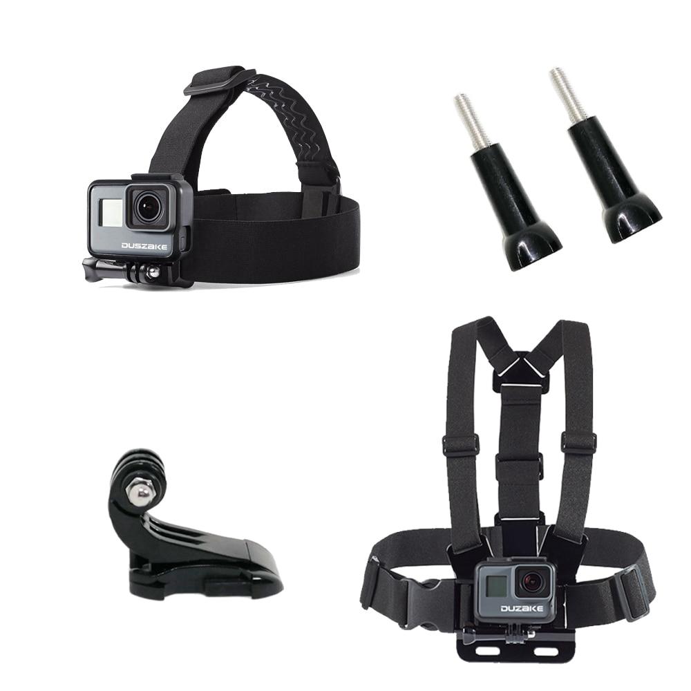 Chest Head Belt Mount For Gopro Hero 5 4 accessories Set SJCAM SJ4000 Action Camera Go pro J mount for Head Harness Strap