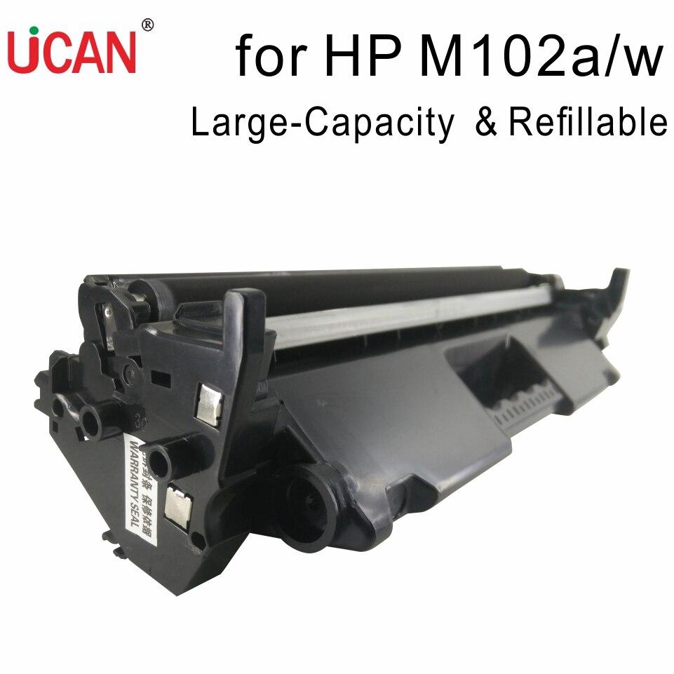 Compatible HP Laserjet Pro M102a M102w Printer CF217a 217a 17a Cartridge 2000 pages  Refillable Toner