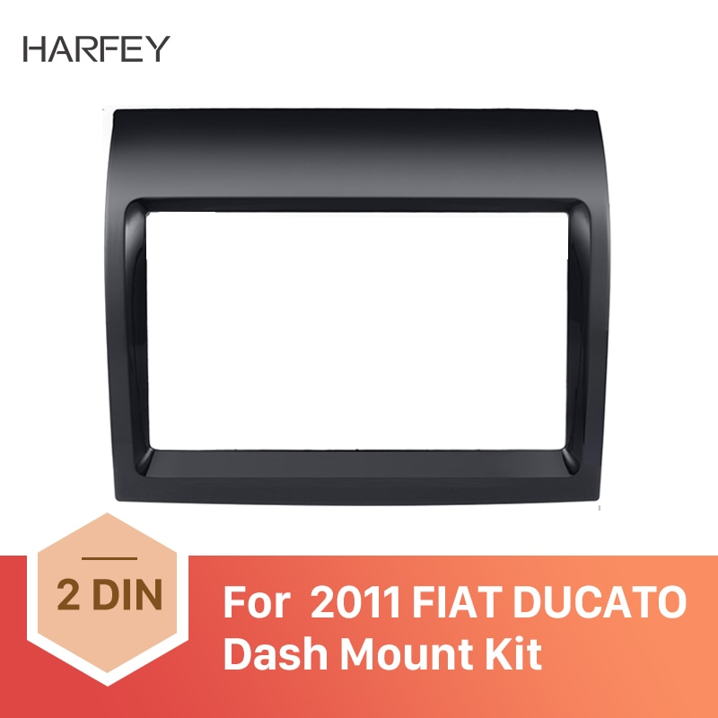 Harfey 2 Din Fascia carro UV Preto Quadro Painel Dash Mount Adapter Kit para FIAT DUCATO 2011 kit de Montagem Do Carro DVD Quadro kit Guarnição