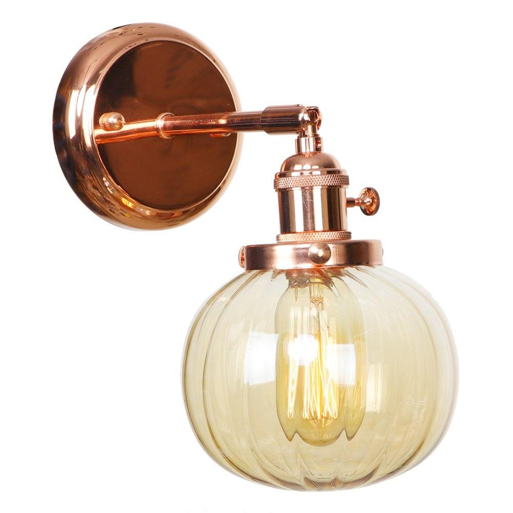 IWHD Nordic Japan Style Wall Lamps Bedroom Bathroom Mirror Light Rose Gold Iron Metal Glass Ball LED Wall Lights Sconce Wandlamp