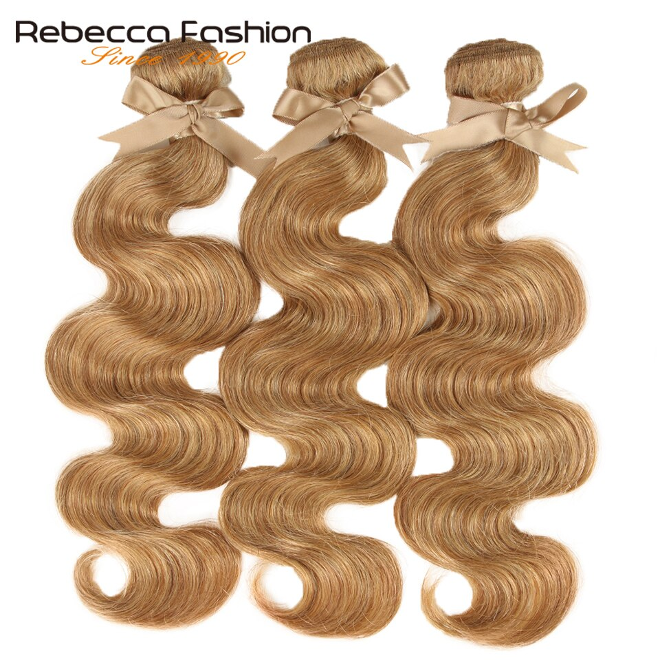 Mechones de pelo brasileño ondulado, 27/30 mechones de pelo humano Remy 100%, 3/4 mechones de 10 a 26 pulgadas
