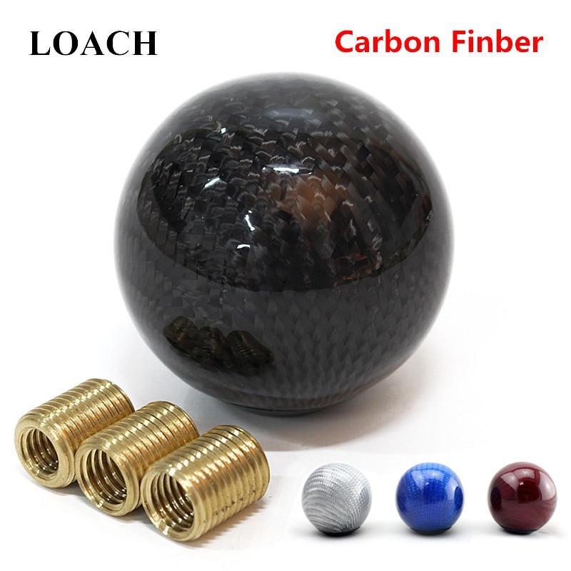 Carbon Fiber Universal Auto Schaltknauf Hebel Stick Headball Arm Stift POMO MOMO AT MT M10 * 1,5 M10 * 1,25 M8 * 1,25 Vites Topuzu
