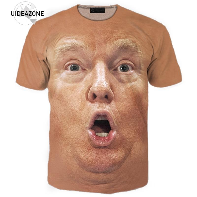 Футболка Trump, 3D облегающая брендовая одежда, повседневная Уличная Мужская футболка, футболка для фитнеса с принтом «Дональд Трамп»
