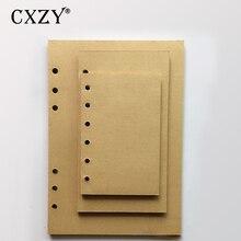 CXZY A5 A6 A7 Blank Kraft papier Lose Blatt notebook Spiral vintage Seite Refill journal travel planer Molkerei tagebuch skizze 4B810