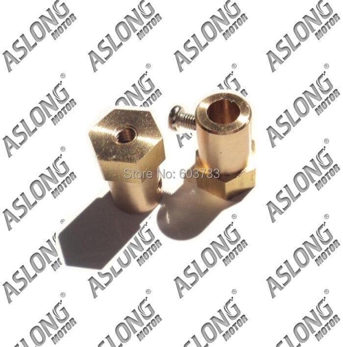10pcs Aslong OD 12mm*18mm DC gear motor coupler 3mm,4mm,6mm coupler free shipping