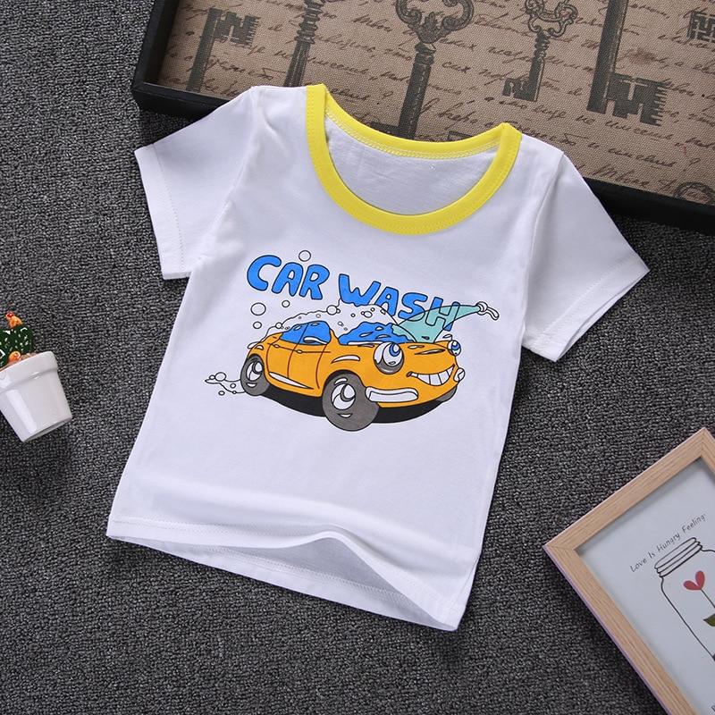 2019 nueva camiseta de manga corta de verano para niños camiseta de dibujos animados para bebés y niñas Camiseta de algodón de calidad ropa para niños camiseta
