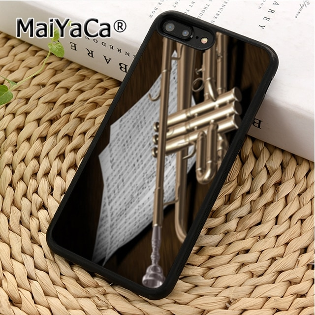 MaiYaCa Piccolo trompeta instrumentos de latón A08 cubierta de la caja del teléfono para iPhone 5 5 s 6 s 7 8 plus 11 pro X XR XS Max Samsung Galaxy S6 S7