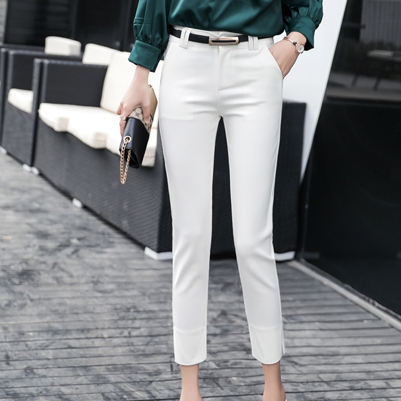 Pencil Pants Women Trousers 2019 Autumn New Ankle-length Pantalon Femme High Waist Slim Stretchy Pantalones Mujer Woman Pants