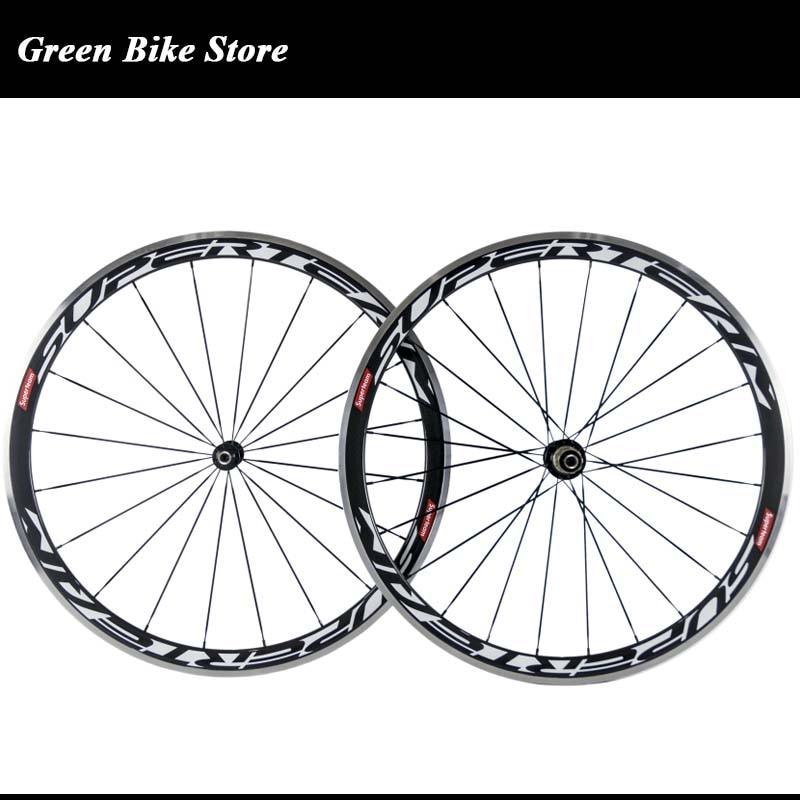 Superteam Wholesales 38mm carbon wheelset 3K carbon road bike wheel clincher chinese carbon alloy wheels