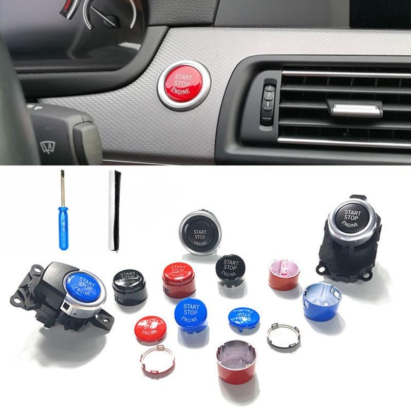 Крышка кнопки запуска двигателя автомобиля для BMW F30 F10 F34 F15 F25 F48 X1 X5 E60 E70 E71 E90 E92 E93 аксессуары для стайлинга автомобиля