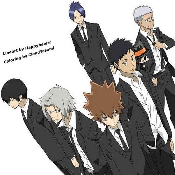 Katekyo Hitman Reborn Anime Characters 45*45CM Square Pillow Case PillowCases #35791