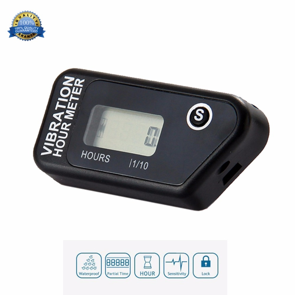 Wireless Vibration Hour Meter Counter Motorcycle Meter For Motocross Engine Boat Snowmobile Motorcycle Chainsaw ATV Jet Ski 016B