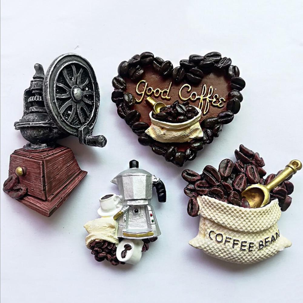 Pegatina Retro love coffee eagle pegatinas de resina de refrigerador tridimensional accesorios de decoración del hogar imán de nevera de cocina