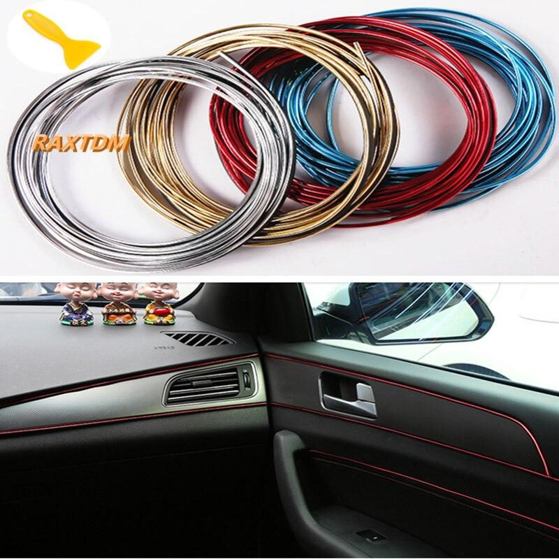 5m coche Exterior Interior molduras de corte de tira decorativa línea para Opel Mokka Corsa Astra G J H insignia Vectra Zafira Kadett