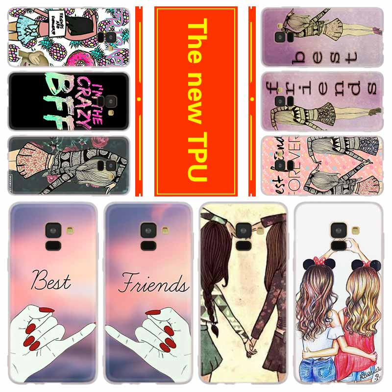 Teléfono para Samsung Galaxy J6 J4 más J8 J3 J7 2018 J5 J3 j7 2017 2016 j6 Primer Caso BFF mejor amigo estilo para