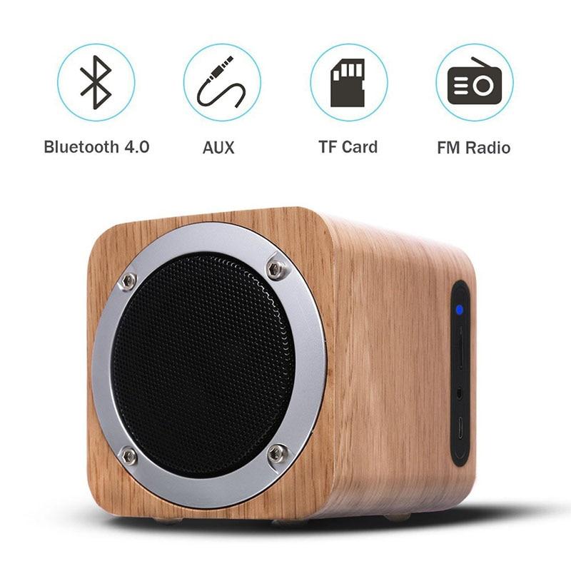 Nasin B06 Ретро деревянный bluetooth динамик деревянный квадрат радио FM woofer boombox caixa de som portatil altavoz alto falante