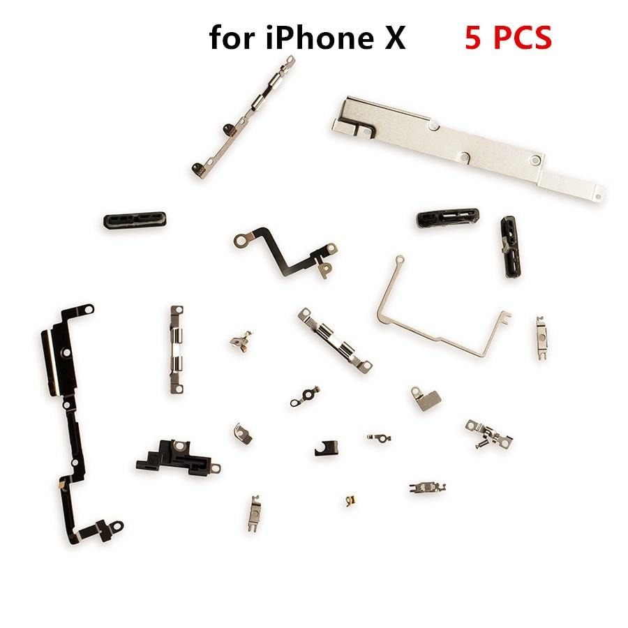 Soporte de reparación de piezas de carcasa, placa de escudo, Kit lógico para iPhone X, piezas pequeñas de juego de Metal interno, 5 piezas