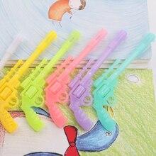 1 PC 0.38 MM zwarte Inkt Koreaanse Creatieve Leuke Gun Gel Pen Pistool Kawaii Briefpapier Store Grappige Balpen Stationaire School tool
