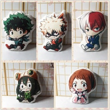 My Hero Academia pillow toy Anime Izuku Bakugou Todoroki OCHACO Tsuyu short plush stuffed doll double sided pillowcase 50cm