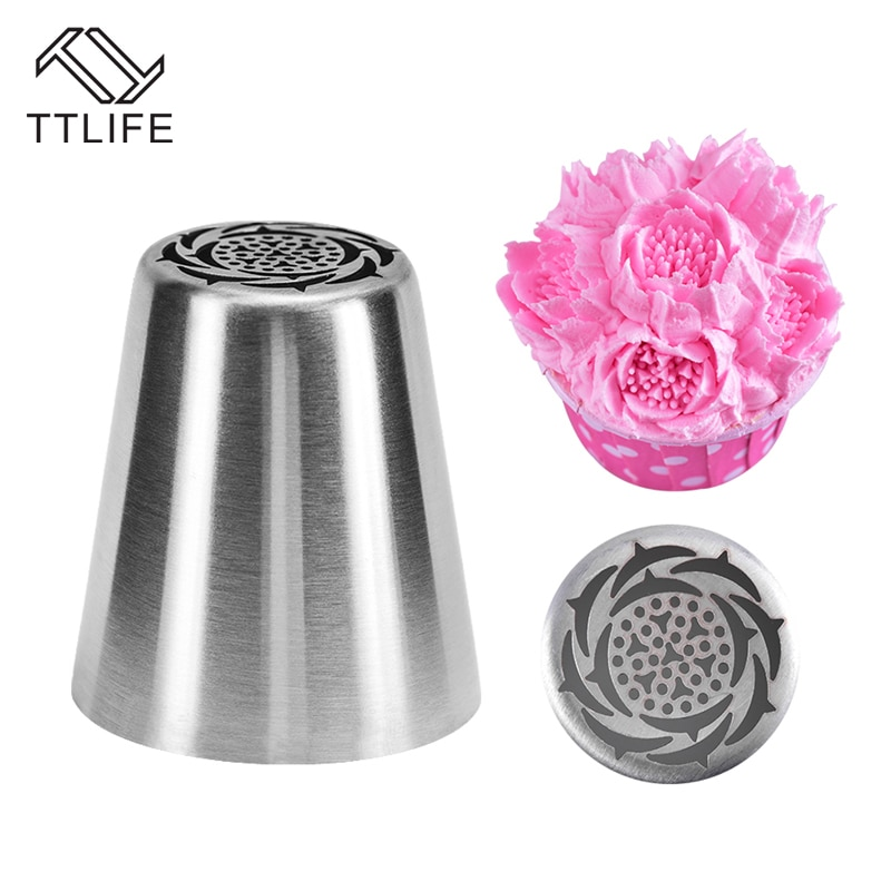 Russian Stainless Steel Icing Piping Nozzle Cake Flower Mouth Cream Pastry Tips Nozzles Cake Decorating Tools Baking Pastry Tool недорого