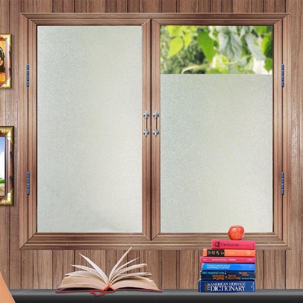 60*400 cm Static frosted vidrio ventana película decorativa arte PVC privacidad opaco autoadhesivo pegatinas de vidrio para Decoración