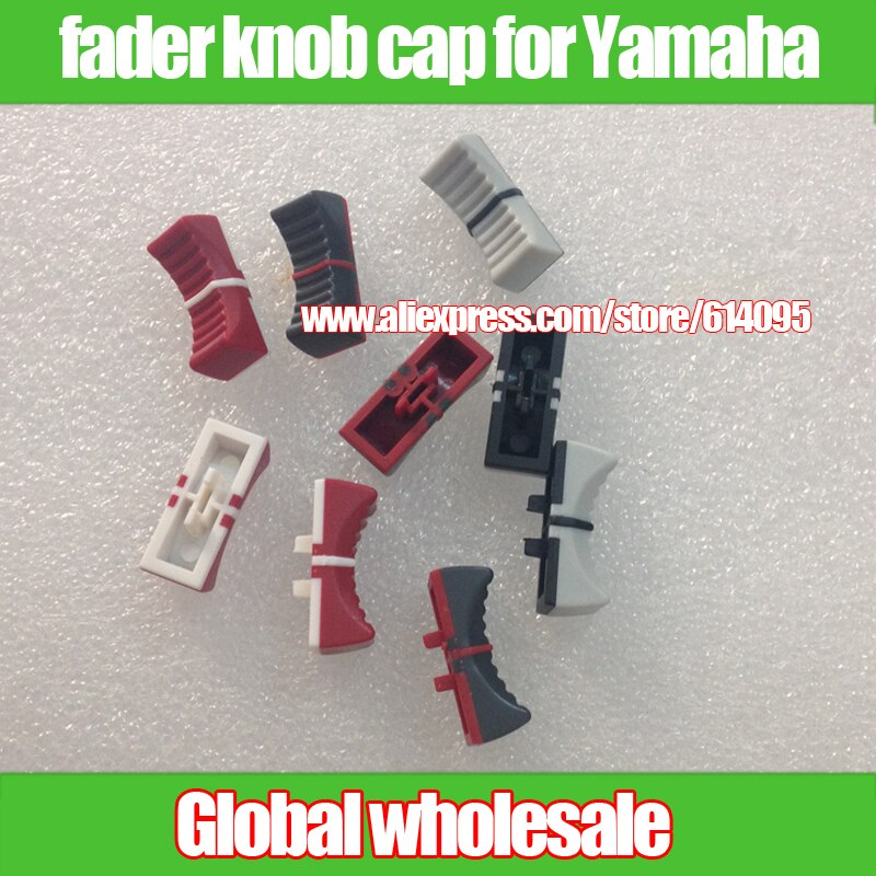 6 uds. Potenciómetro mezclador, tapa de palanca de fader para Yamaha MG166CX-USB MG206C/Agujero 4MM gris/rojo/gris oscuro L 24MM H8.5MM