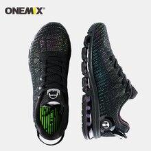 Nouveau air chaussures de course pour hommes baskets léger coloré réfléchissant maille vamp noir Sneaker coussin dair athlétique formateur homme