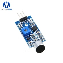 2PCS Microphone Sensor High Sensitivity Sound Detecte Voice Switch Detect Module For Arduino 3 Pin 3.3V-5V Digital Ouput