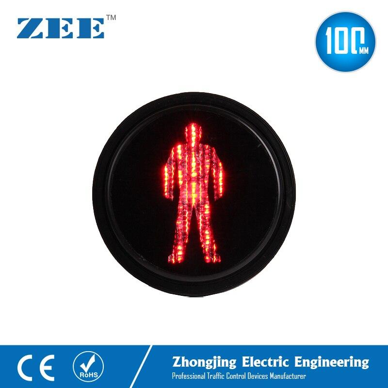 Módulos de semáforo LED para peatones de 100mm, luces LED de 4 pulgadas para hombre rojo para semáforos
