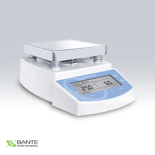 Agitador magnético de placa caliente con tiempo de calentamiento BANTE de marca genuina, tiempo de agitación seleccionable, calentamiento máximo 300 Celsius de alto rendimiento