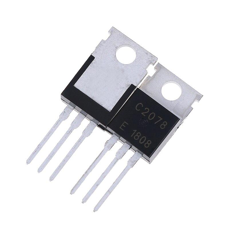 5 unids/lote RF/VHF/Transistor UHF TO-220 2SC2078 C2078 accesorios de piezas de instrumentos