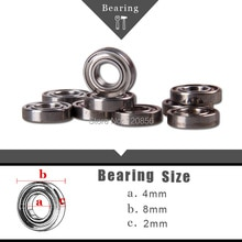 Free shipping Brand new imported bearings10PCS 4x8x2mm toys Bearings for RC boat car drone Remote co