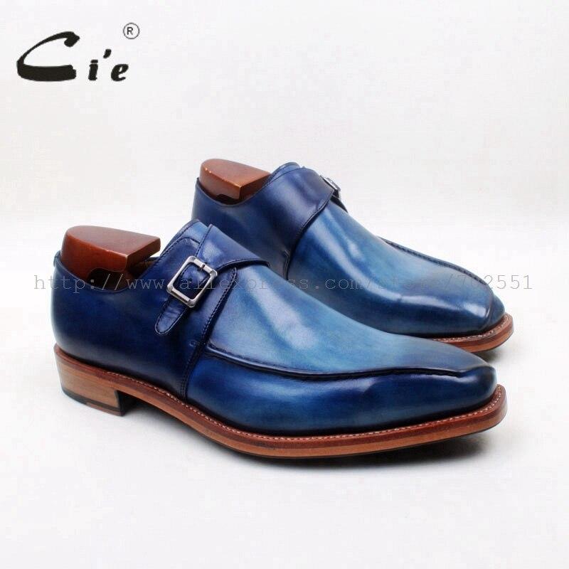 Мужские туфли ручной работы cie, с квадратным носком, из натуральной телячьей кожи