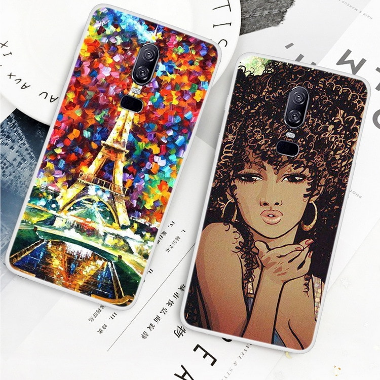 For Oneplus 6 Back Case Cover Soft Silicon Phone Case For One plus 6 Ultra Thin Shockproof Full Prot