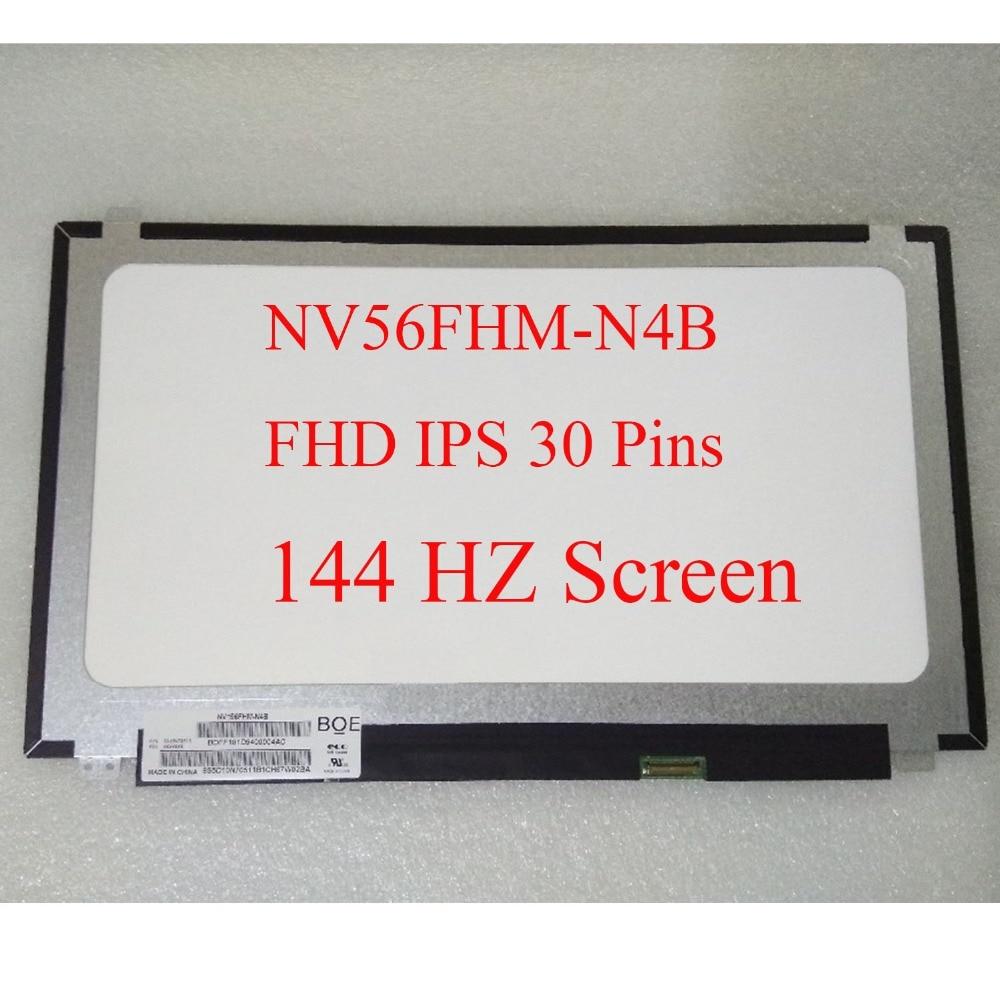 "Matriz de 144 hz fhd para o portátil 15.6 ""para boe NV156FHM-N4B nv156fhm n4b 1920x1080 led tela painel monitor lcd display substituição"