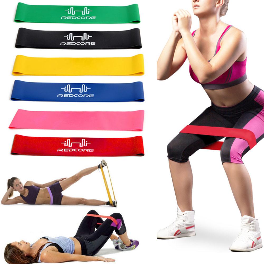 6 pçs/set faixa de estiramento látex natural resistência treinamento exercício faixas loop para casa ginásio fitness & t8