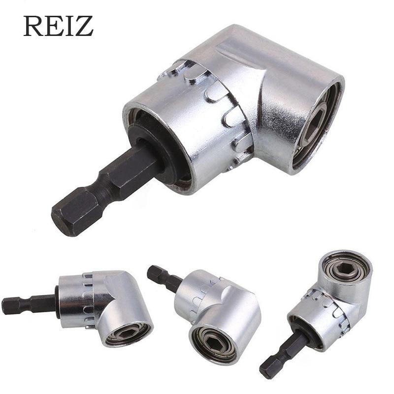 REIZ 105 градусов набор угловых отверток держатель гнезда адаптер регулируемые сверла насадка под прямым углом для отвертки