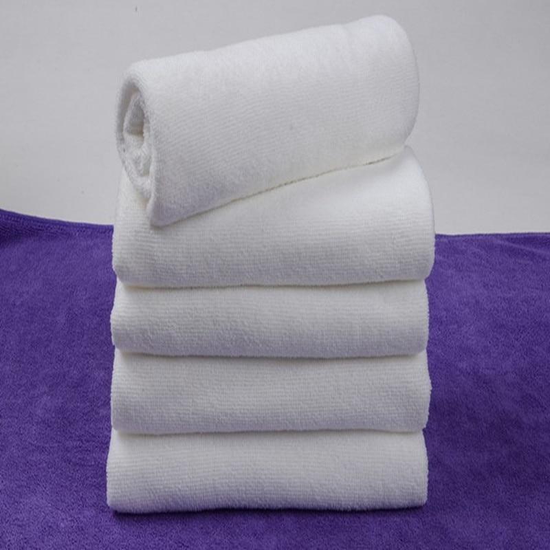 Soft Microfiber Fabric Face Portable Terry Hotel Bath Towel Washcloths Hand Towels P0.11 30*60 CM White