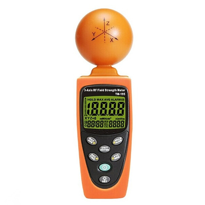 Medidor de fuerza de campo RF de 3 ejes detectores de radiación electromagnética medidor de resistencia de campo RF de alta precisión Digital EMF probador