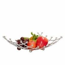Table à manger en métal chromé   Porte-panier à fruits, Table de cuisine élégante et décorative, treillis de bol de fruits, panier de rangement de fruits 2017