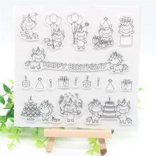 KSCRAFT Единорог для вечеринки прозрачные силиконовые штампы для скрапбукинга/изготовления карт/Детские ремесла забавные украшения