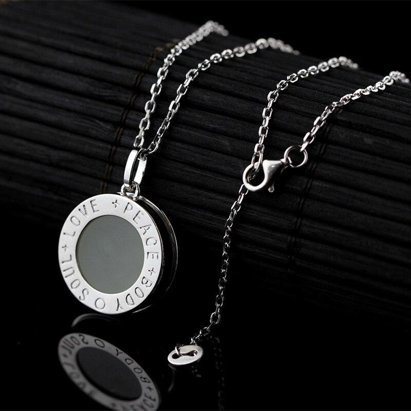 L & P Alma Amor Natural Pedra 925 Sterling Silver Pendant Necklace para Mulheres Glod Chapeado colar de Presente Por Atacado Quente venda