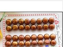 Oorbellen vente en gros 16 paire 11 MM café rond fw perle boucle doreille P2430