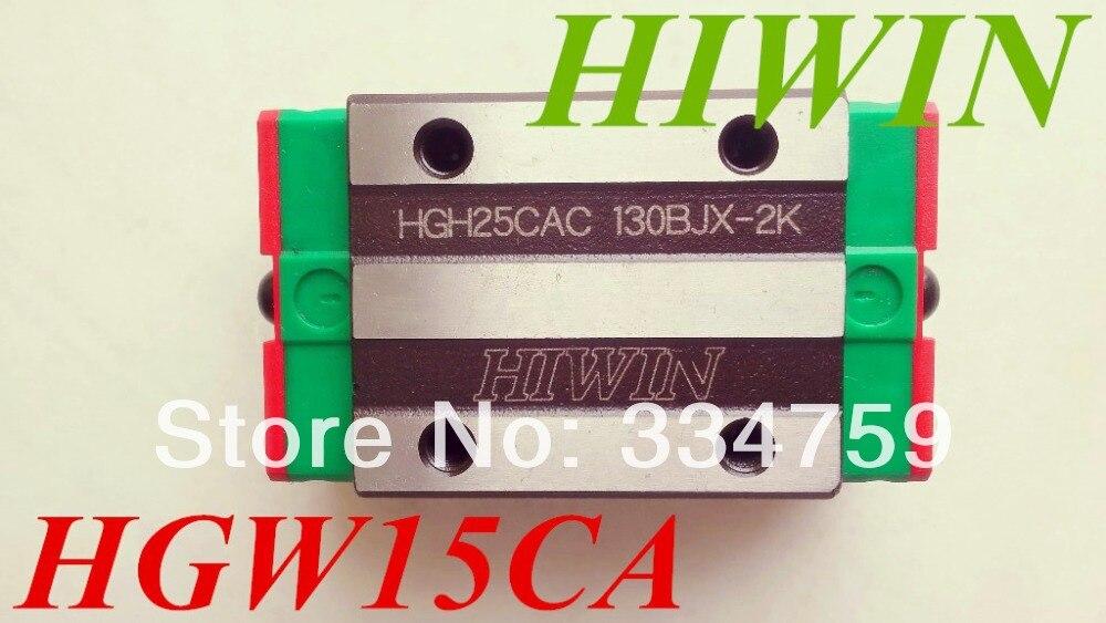 HIWIN HGW15CA CNC, كتلة سكة حديد لكتلة دليل خطية HGR15