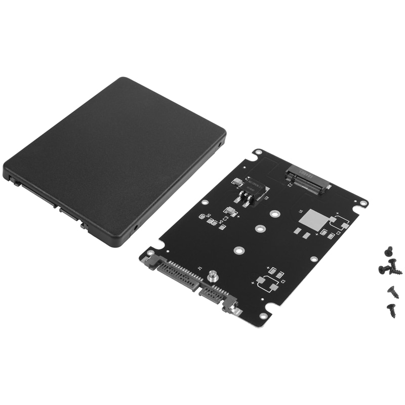 Enchufe de llave negro B + M 2 M.2 NGFF (SATA) SSD a tarjeta adaptadora SATA 2,5 con funda #8