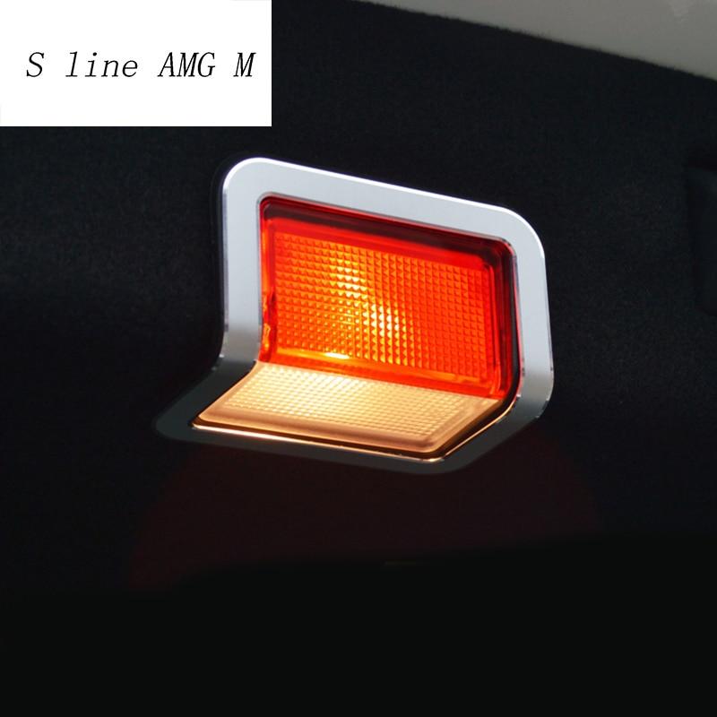 Car Styling trunk warning Light for Mercedes Benz GLK CLS ML GL GLC C E Class W205 W213 Auto trunk door lamp decorative stickers