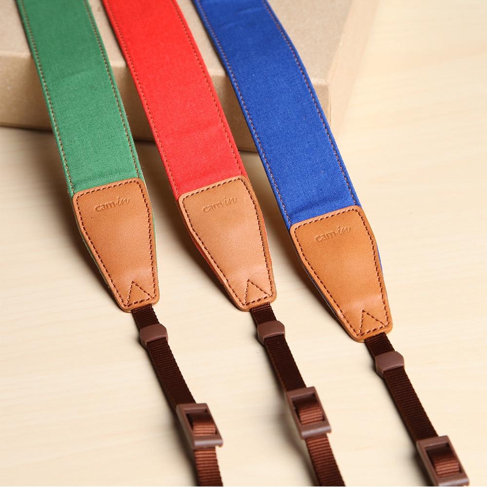 cam-in 7280-7282 Monochromatic Jean Cow Leather Universal Camera Strap Neck Shoulder Cotton Cloth Adjustable Pure color Belt