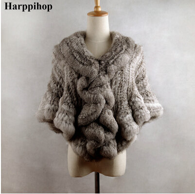 Harppihop-معطف فرو أرنب ريكس نسائي ، معطف ، تصميم قصير ، شال ، شحن مجاني ، 2017
