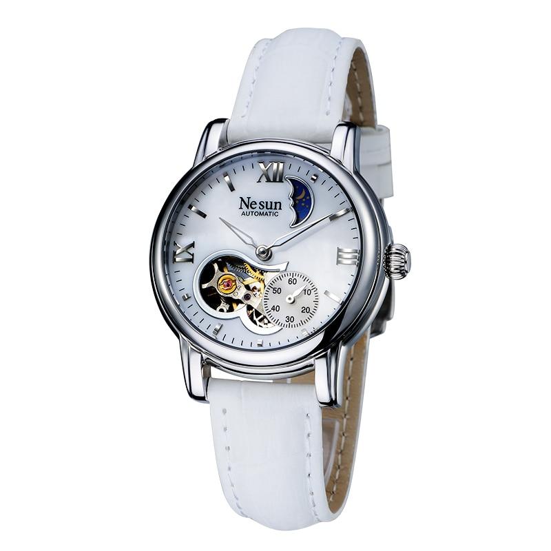 Switzerland New Luxury Brand Nesun Hollow Women Watch Automatic Self-Wind Genuine Leather Clock Waterproof Watches women N9061-5 enlarge